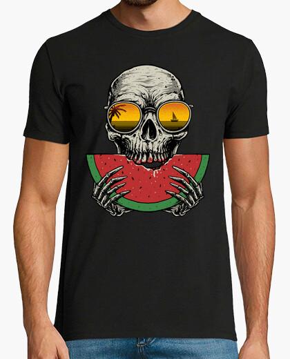 T-Shirt schädel wassermelone