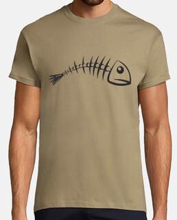 schelletro di pesce / raschiare / pesce