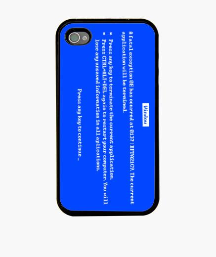 Cover iPhone schermata blu