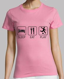 schlaf essen und frau spielen