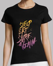 schlafen, essen, surfen, wieder