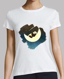 schlafender panda auf dem mond