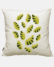 schöne abstrakte krallte grünes blatt pat