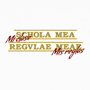 Schola mea regulae meae T-shirts