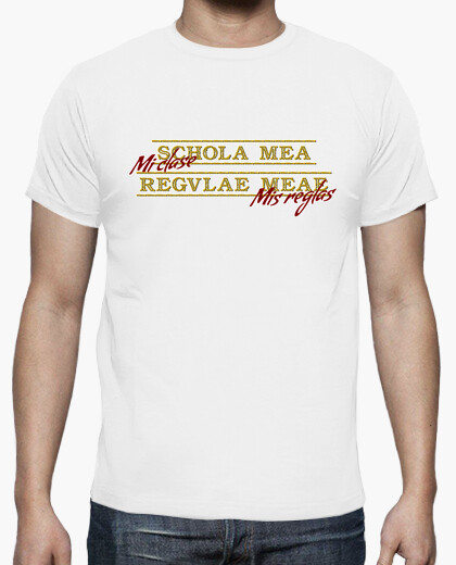 Schola mea regulae meae t-shirt