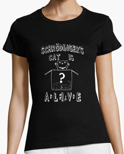 Camiseta Schrödinger's cat is ADLEIAVDE, Mujer