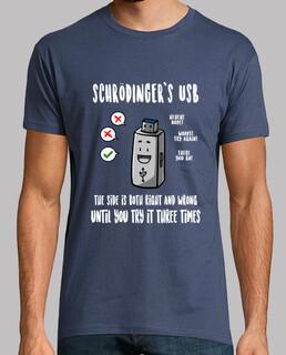 schrödingers usb t-shirt man