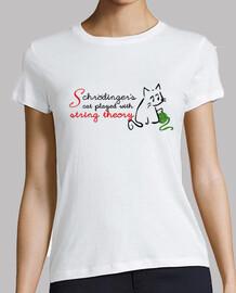 schròdinger gatto gioca con stringa theory