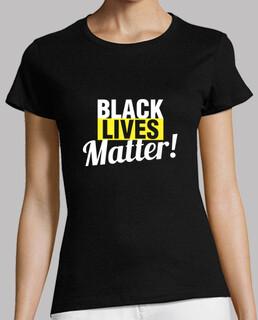 schwarz lebt materie frau 2 t-shirt