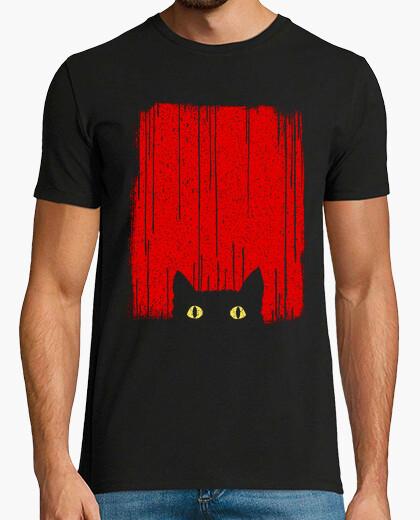 T-Shirt schwarze Katze