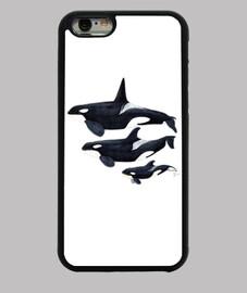 schwertwalwale funda iphone 6, schwarz