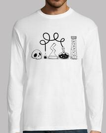 science - shirt manga long