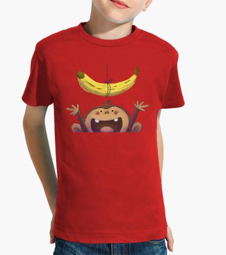Abbigliamento bambino scimmia e banane - t-shirt bambino