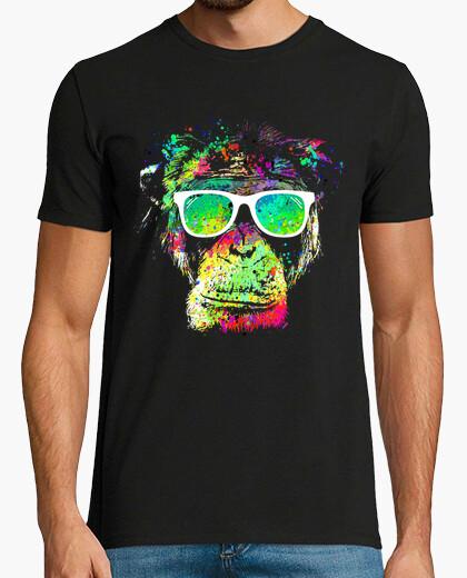 T-shirt scimmia technicolor
