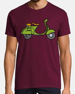 VESPA T Shirt Rétro Rouge Vespa moto T-shirt graphique Cadeau Pour Elle Lui