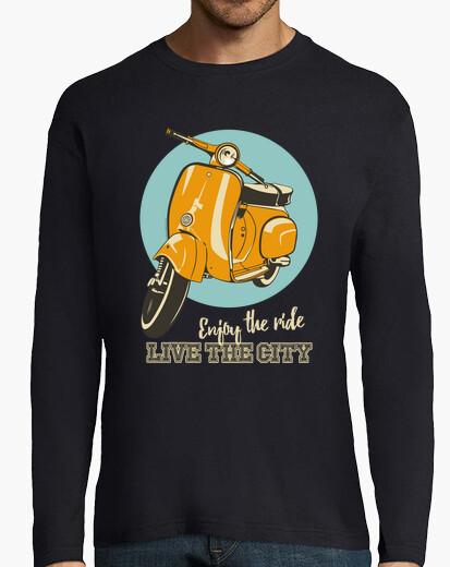 Tee-shirt scooter classique - ville en direct