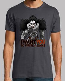 scrivere un nome.