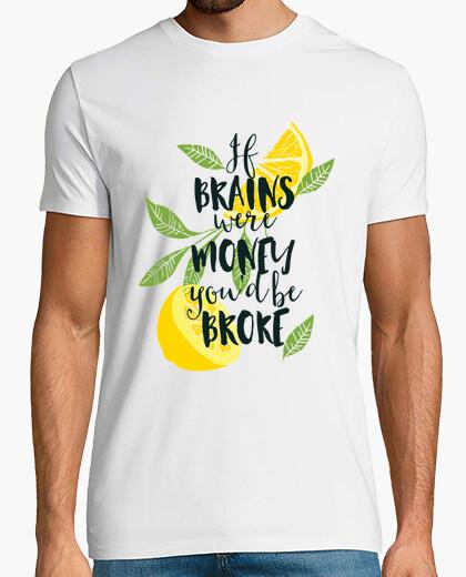 T-shirt se il brain fosse m one e you sarebbe r