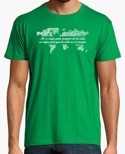 Camiseta Se viaja para que la vida no se escape