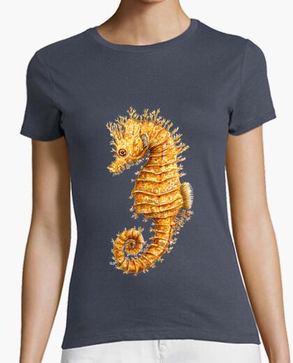 Sea horse hippocampo t-shirt woman