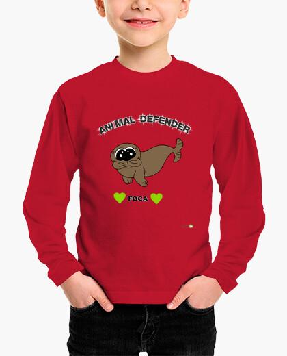 Seal long manga t shirt - animal defender...