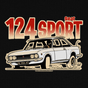 Camisetas SEAT 124 SPORT BLANCO