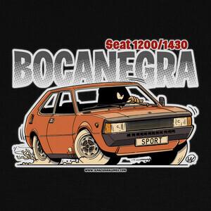Camisetas SEAT BOCANEGRA NARANJA