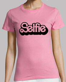 Selfie Negro Mujer, manga corta, rosa, calidad premium