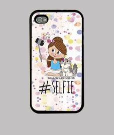 Selfie niña gato - Funda Iphone 4/4S