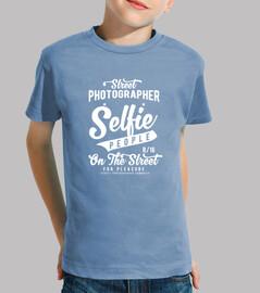Selfie people  Niño, manga corta, celeste