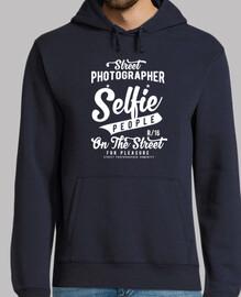 Selfie people Hombre, jersey con capucha, azul marino