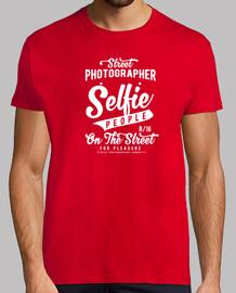 Selfie people Hombre, manga corta, rojo, calidad extra