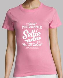 Selfie people Mujer, manga corta, rosa, calidad premium