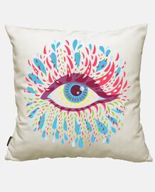 seltsames psychedelisches blaues auge