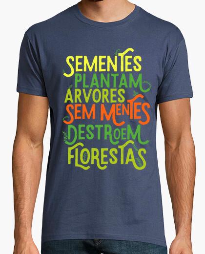 Camiseta Sementes Plantam Árvores - Cor