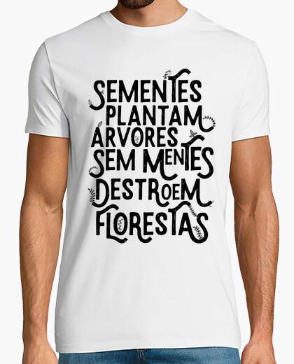 Sementes plantam arvores t-shirt - black
