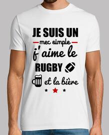 semplice ragazzo rugby birra
