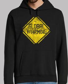 señal de advertencia: calentamiento glo