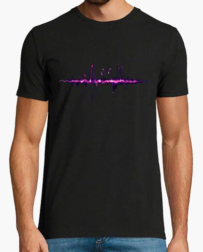 Camiseta Señal digital morada (m.c.)