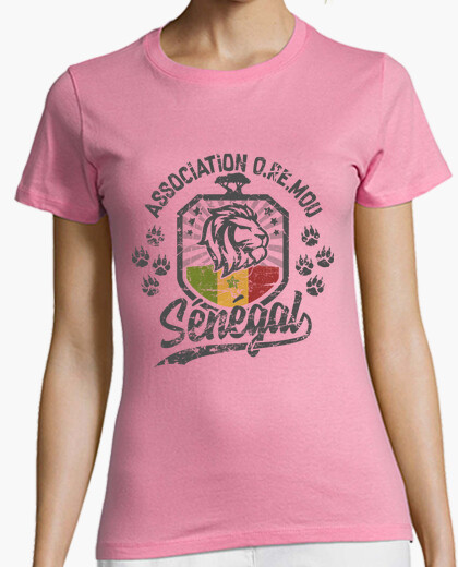 Senegal lion terra oremou t-shirt