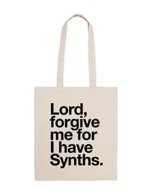 señor, perdóname por lo que tengo sintetizadores