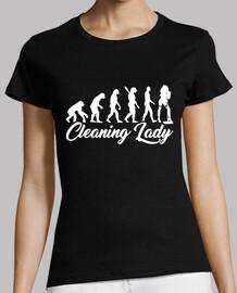 señora de la limpieza de evolución
