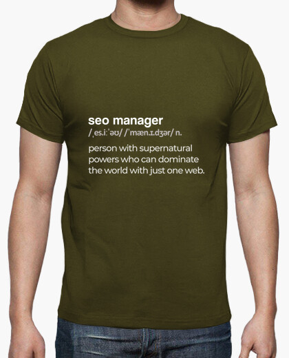 Seo manager men's marketing t-shirt