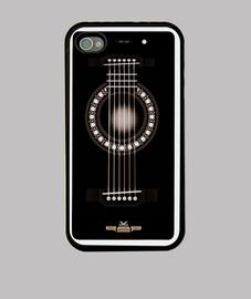 Séptima Life Guitar Funda iPhone 4, negra