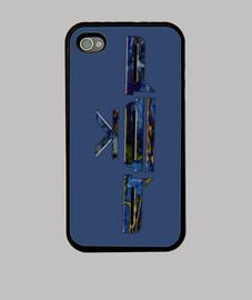 SeptimaLife Funda iPhone 4, Azul Snake