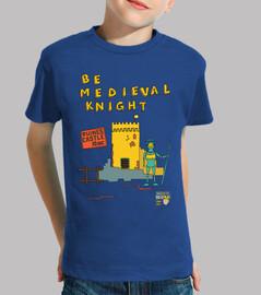 ser caballero medieval | niños de manga corta