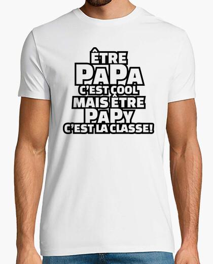 Camiseta ser papá es genial ser abuelo es clase