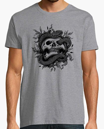 Tee-shirt serpent crâne
