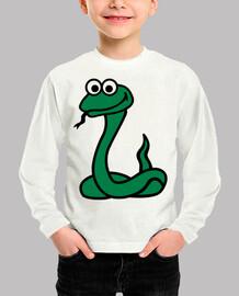 serpiente cómica verde