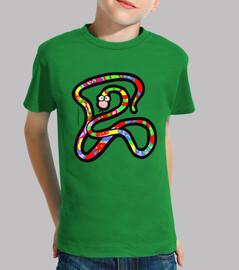 Serpiente multicolor